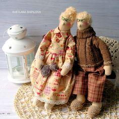 Купить Семейная пара Дед и Бабушка - семейный очаг, семейный подарок, семейный оберег, пара