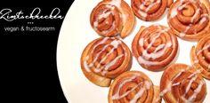 Hefe-Zimtschnecken vegan (laktosefrei, eifrei) & fructosearm