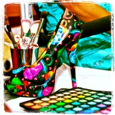 Here's is an all freestyle high heel design by Artist Latisha Wood. Www.latishawood.com Latishawood.booking@gmail.com