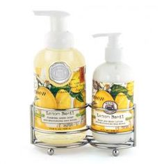 The new hand soap & lotion caddy by Michel Design Works is the perfect place to hold to great essentials in one place!  We love the Lemon & Basil scent..of course!  $26.50