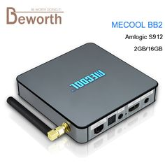 Mecool BB2 Amlogic S912 Octa Core Android TV Box 2GB 16GB KODI 2.4&5G WiFi BT4.0 H.265 4K 1000M Smart Android 6.0 Media Player