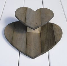 Handmade rustic wooden 2 tier heart wedding / party cupcake display stand, £19.99