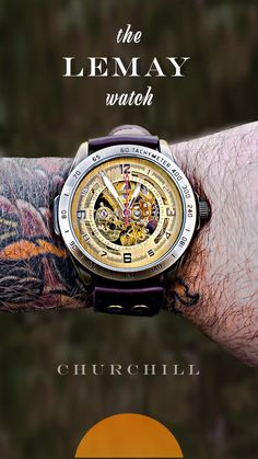 LeMay™ - Steampunk Pilot's Skeleton Watch The stunning LeMay watch ★★★★★ Best Watches For Men, Luxury Watches For Men, Popular Watches, Watch For Men, Stylish Watches, Cool Watches, Men's Watches, Unusual Watches, Analog Watches