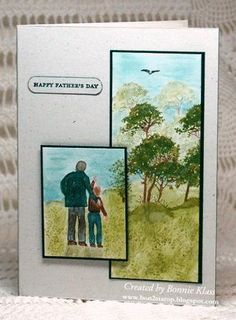 Serene Silhouettes Father's Day by bon2stamp - Cards and Paper Crafts at Splitcoaststampers