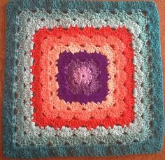 """With a very interesting texture this beautiful 4 different colourways pattern is quick and easy to make. Four 12"""" Shell Stitch Granny Square Variations by Priscilla Hewitt is a block that could literally stand on its own. Very artistic and with a distinctive texture, this shell stitch granny square pattern can be used to create …"""