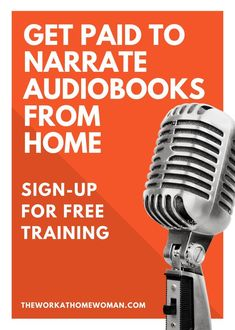 Have you been told that you have a great voice? Would you like to earn an income from home? Then check out the fun and lucrative niche of narrating audiobooks. This FREE mini-course will cover everything you need to know so you can learn if this is the right career path for you! #workfromhome #workathome - Make Money With Music ideas #MakeMoneyWithMusic Ways To Earn Money, Earn Money From Home, Way To Make Money, Voice Acting, The Voice, Faire Son Budget, Career Path, Career Advice, Home Based Business