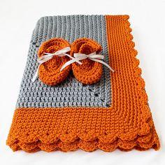 Crocheted Starburst Baby Blanket - Free Pattern