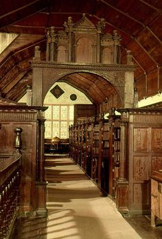 Merton College Library, Oxford, England.