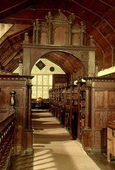Merton College Library, Oxford, England.