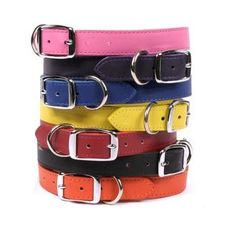 Leather Simple Solids Dog Collar #DogProducts