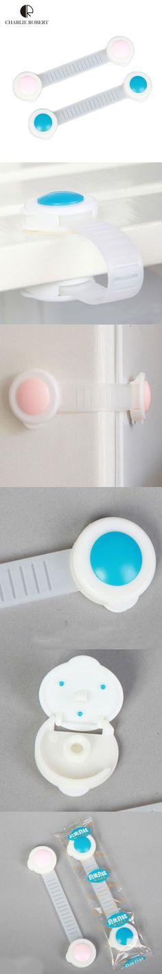 10Pcs Baby Safety Lock Seguridad Plastic Children Safety Products Child Lock Protection Drawer Cabinet Refrigerator Lock HK216