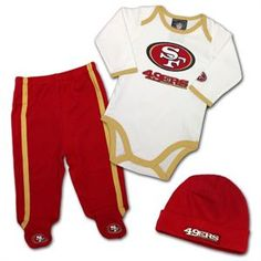 49ers Baby Big Logo Playtime Outfit  baby  kids  49ers 2e737d4e5