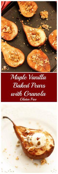 Maple Vanilla Baked Pears Granola    Recipes Worth Repeating