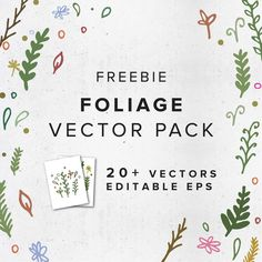 FREEBIE: Flowers & Foliage Vector Pack — Big Cat Creative | Freebie Friday | Free Vector Art | Free Design Resources | Free Artwork | Free Illustrator Vectors | Free Vector Pack |