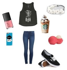 """""""Just your typical girl"""" by liliaschaefer on Polyvore featuring Paige Denim, Billabong, Vans, Full Tilt, Eos and NARS Cosmetics"""