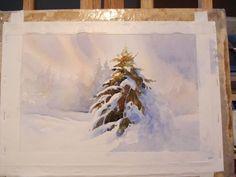 Risultati immagini per negative winter watercolour