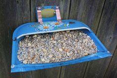 Gartendeko Selber machen-Ideen Futterhaus
