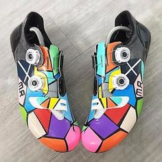 @artfulkicks bringing. The colorful #velokicks Kaleidoscope heat on the latest creation! #Repost @artfulkicks ・・・ #1 - Another seriously BRIGHT custom pair of cycling shoes, this time for @mattyrey91. Once again a pair of @iamspecialized S-Works 6's were given the @artfulkicks treatment . The Scottish flag and initials have been incorporated into the colourful geometric shapes. More pictures to follow . Please contact artful.kicks@outlook.com with any of your enquiries - VISIT www.artf...