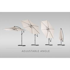 Stylish cantilever umbrella - 3 meter diameter x 250mm (H)Solid powder coated steelframe with cross baseSix steel ribs supporting beige weather resistant cover.