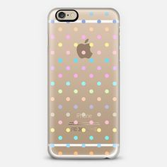 Pastel Multicolor Polka Dot Transparent iPhone 6 Case by Organic Saturation   Casetify. Get $10 off using code: 53ZPEA