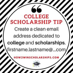 Students can use their email address to be remembered in a positive way! More #ScholarshipTips found at how2winscholarships.com #college #scholarships #ScholarshipMom