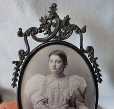 c1890 Victorian Picture Frame with Delicate Scrolls by Neatcurios