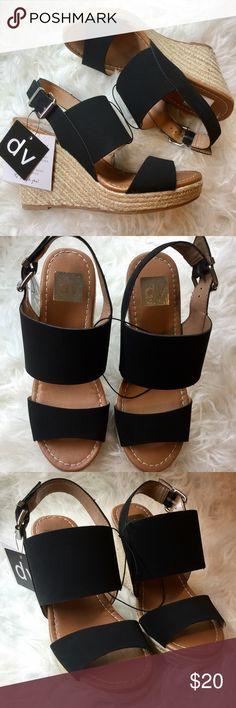 NWT Dolve Vita Wedges. Size 7.5 NWT Dolve Vita Wedges. Size 7.5 in Black. Never worn. Dolce Vita Shoes Wedges