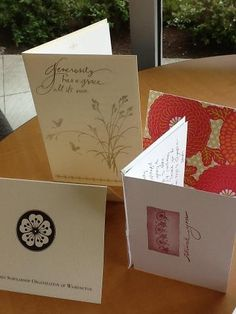 We received beautiful thank you cards from the Japanese Queen Scholarship Organization. Thank you so much, we really appreciate it!