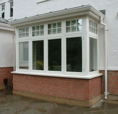Bay window - Ron Currie and Sons Porch Windows, Front Doors With Windows, Basement Windows, Upvc Windows, House Windows, Facade House, House Roof, Bay Windows, Victorian Windows
