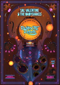 Gig poster - Sal Valentine and Richter City Rebels Live For Yourself, Rebel, Behance, Bar, City, Poster, Posters, Billboard
