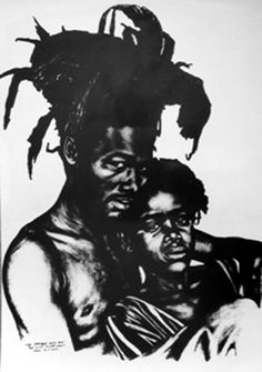 A self-portrait of Ras Daniel Heartman hugging his daughter.