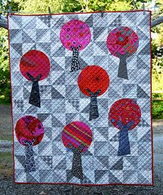 Windmills and Trees Cot Quilt | Flickr - Photo Sharing!