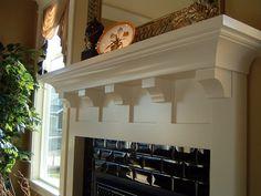 craftsman mantel shelf   Roycroft Fireplace Mantel Designs by Hazelmere Fireplace Mantels ...
