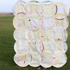 Double Wedding Ring quilt.  Low-Key Ring by The Busy Bean, via Flickr