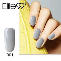 Elite99 Gray Series UV Gel Polish Soak Off Gel Varnish Nail Polish 10ml Long-Lasting UV LAMP Gel Lacquer 12 Color for Choose