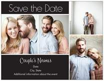 Save the Date Invitations & Announcements 4 collage 4 collage cards