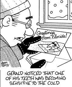 Gerald noticed that one of his teeth was becoming sensitive to the cold.  #Dentist #Dental #Hygienist