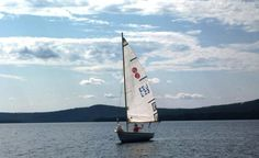 Sailing on Lake Miekojärvi in Pello, Western Lapland