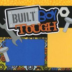 tough boy scrapbook page