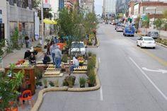 A Build a Better Block installation in Kansas City.  Credit: Build a Better Block.