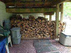 Our woodpile so far on 4th day.