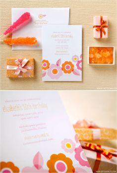 so colorful and fun Wedding Stationery Inspiration, Wedding Inspiration, Design Inspiration, Wedding Invitation Paper, Paper Supplies, Orange Wedding, 10th Birthday, Card Designs, Event Decor