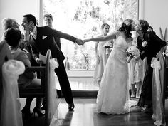 Give your parents one last hug before you're pronounced husband-and-wife. Just remind them that the officiant is waiting if they refuse to let go!