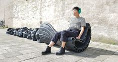 Rotterdam research and design studio turns plastic waste into cool and innovative street furniture. Sunroom Furniture, Bench Furniture, Urban Furniture, Street Furniture, Recycled Furniture, Handmade Furniture, Cool Furniture, Concrete Furniture, Furniture Plans