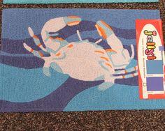 Blue Crab Jellybean Rug
