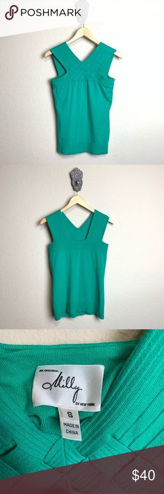 2edabad7a2e22 Milly of New York green knit sleeveless top Beautiful Milly green knit  sleeveless top with a