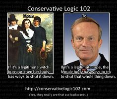 Conservative Logic Legitimate Rape