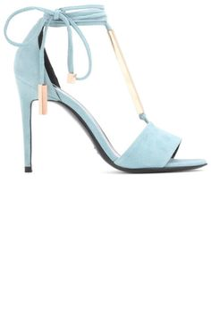 "Find the perfect ""something blue"" shoe to wear as you walk down the aisle.."
