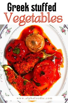 """A simple how-to for flavor-packed Greek rice-stuffed vegetables (Gemista/Yemista). This """"one size fits all"""" recipe works wonders for Greek stuffed peppers, zucchini, eggplant, onion, and tomatoes! Best of all, this recipe is naturally gluten-free, dairy-free, and packed with color, flavor, and nutrients!"""