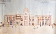 Egypt Palace during World's Fair of 1900 Classical Period, World's Fair, Syria, 18th Century, Egyptian, Palace, Taj Mahal, Ali, Old Things